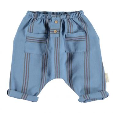 baby trousers blue w colored stripes piupiuchick a