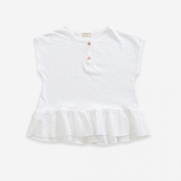 camiseta blanca volante play up la petite boutique santiago