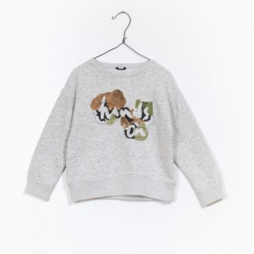 sudadera felpa gris play up la petite boutique santiago