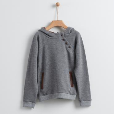 sudadera gris marron yellowsub la petite boutique santiago