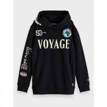 sudadera negra moteada scotch soda la petite boutique santiago