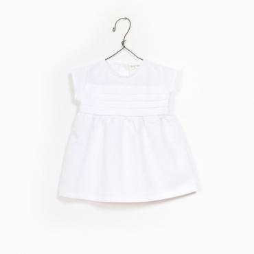 vestido lino blanco bebe play up la petite boutique santiago